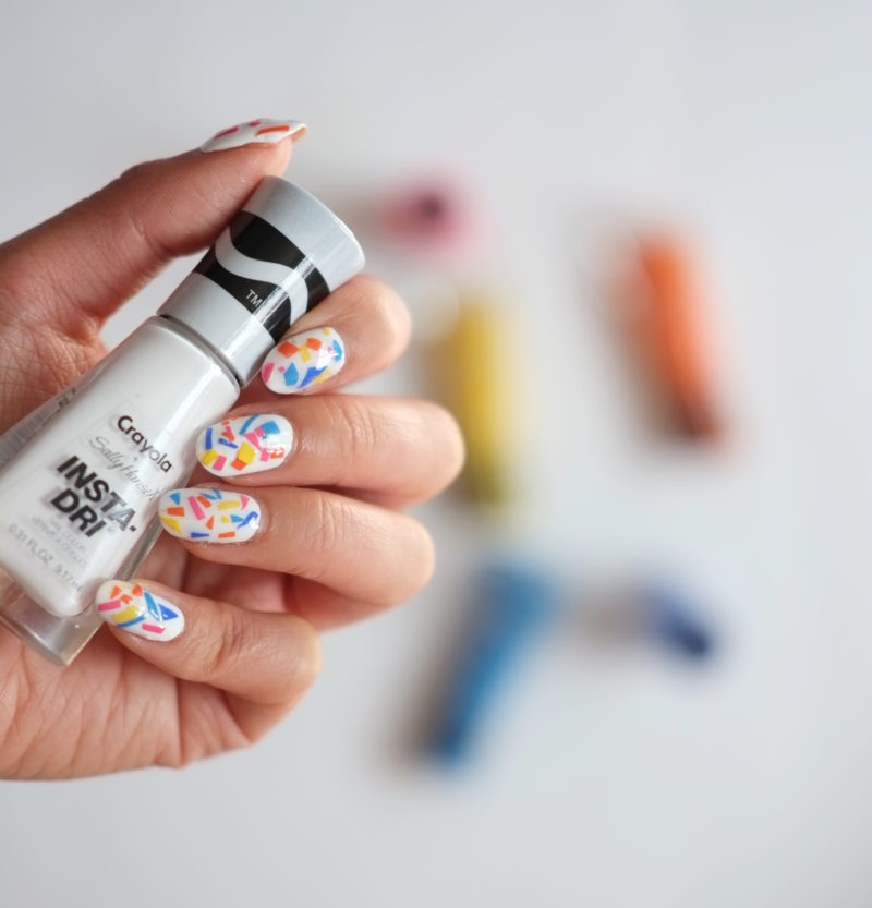 Confetti Nail Art Sally Hansen Crayola