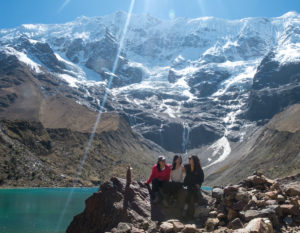 Huamantay Lake Lagoon on the Salkantay Trek