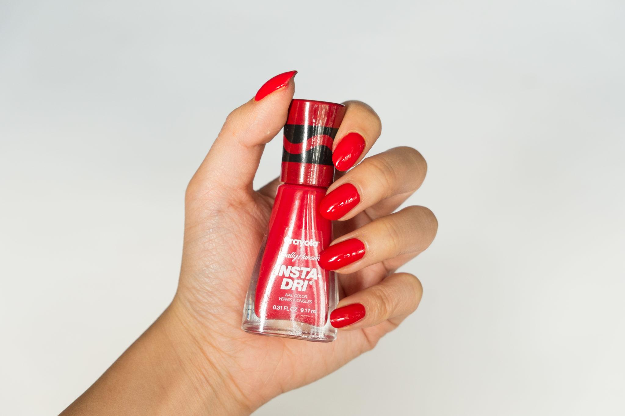 Sally Hansen Crayola Scarlet Nail Polish Swatch