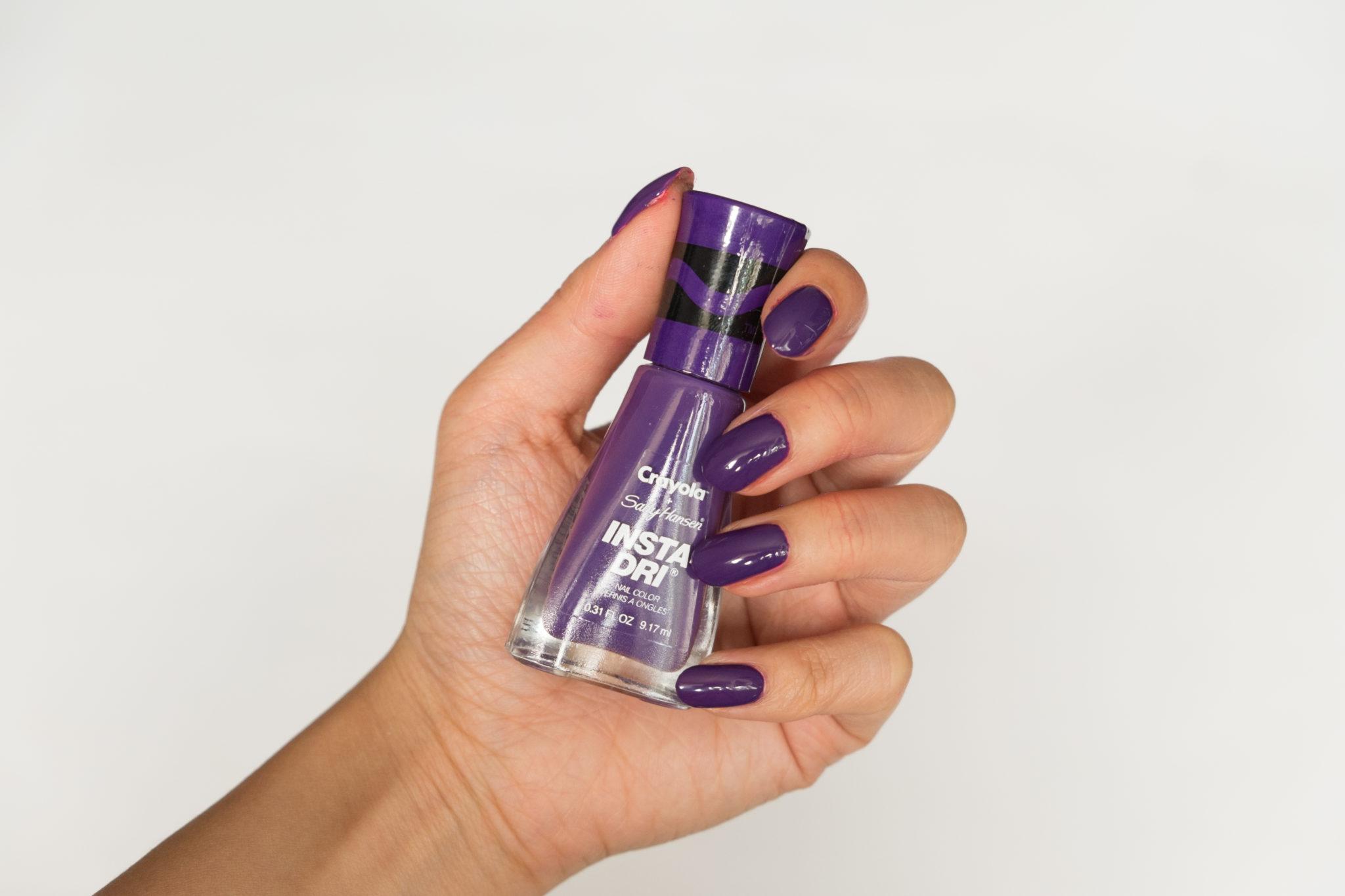 Sally Hansen Crayola Vivid Violet Nail Polish Swatch
