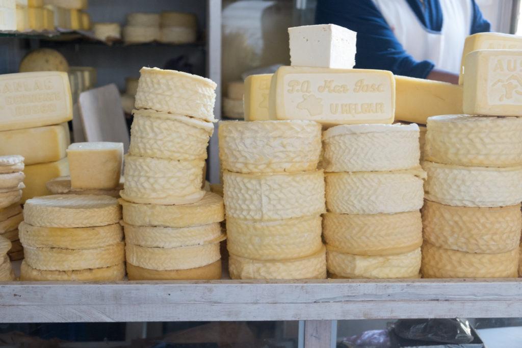 Cheese Queso at San Pedro Market Cusco Peru