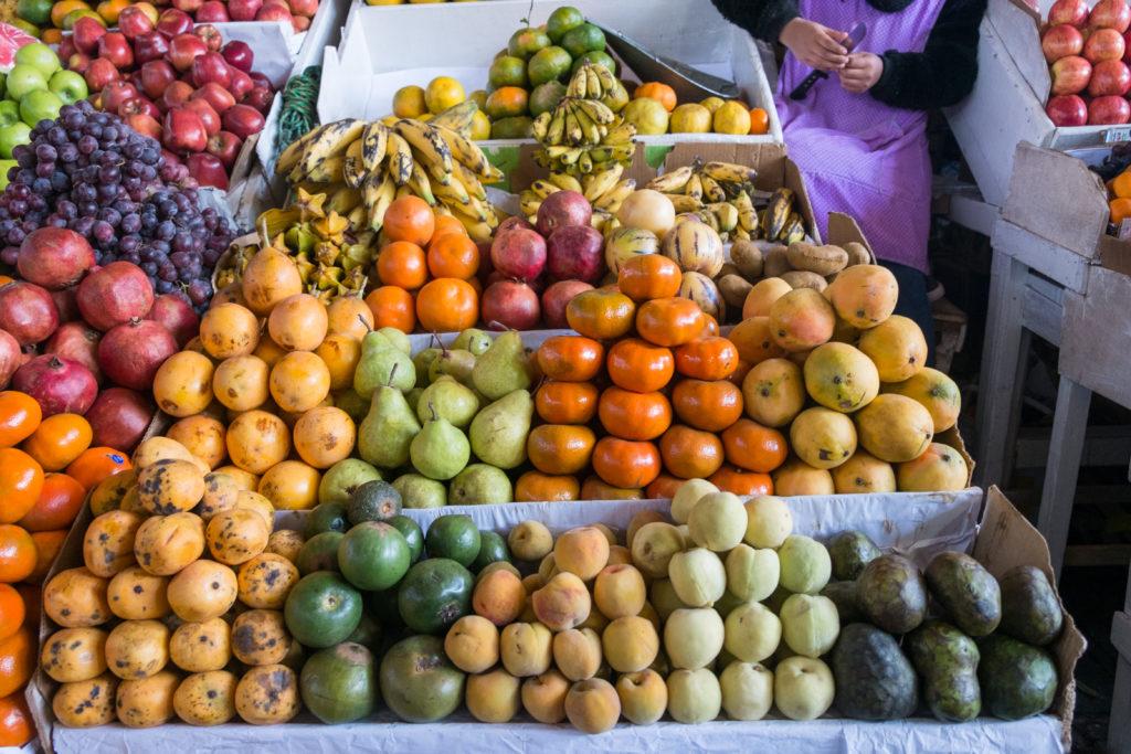 Exotic Fruit San Pedro Market Cusco Peru