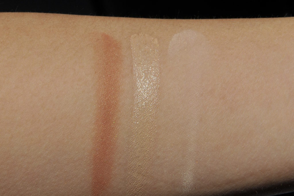 Glossier Swatches Cloud Paint in Dusk Stretch Concealer in Medium Wowder in Light Medium Canada Review
