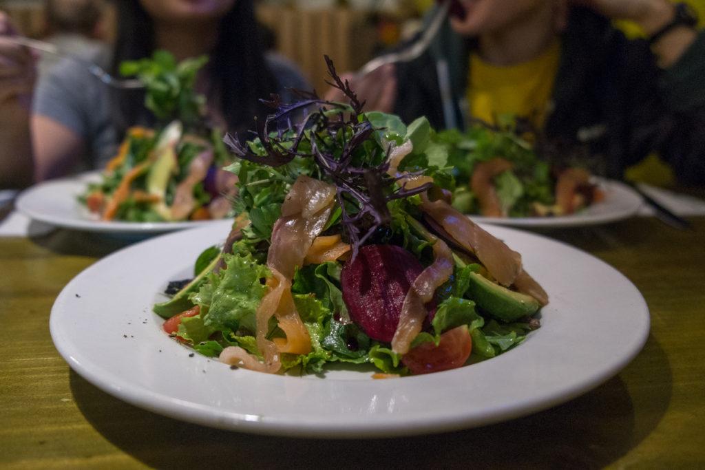 Organika Smoked Trout Salad Cusco Peru