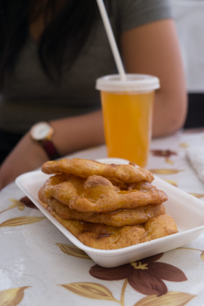 Picarones Passionfruit Syrup Street Market Cusco