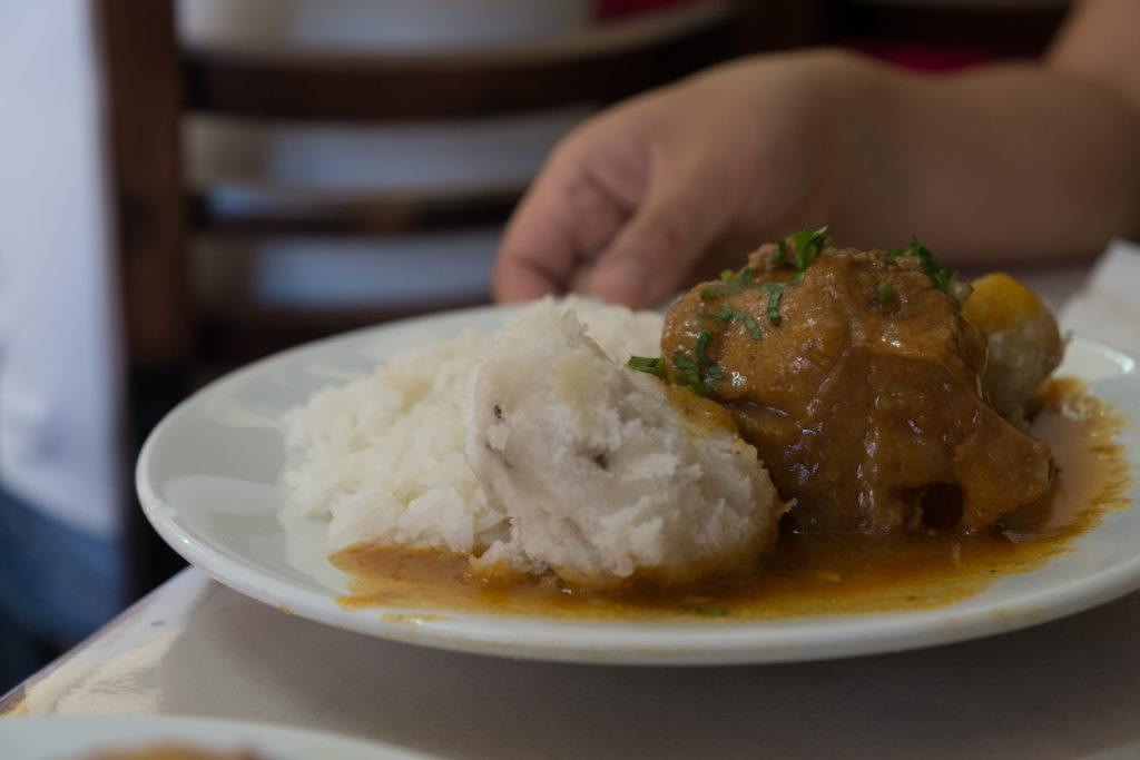 Q'ori Sara Restaurante Pernil and Potato Cusco Peru