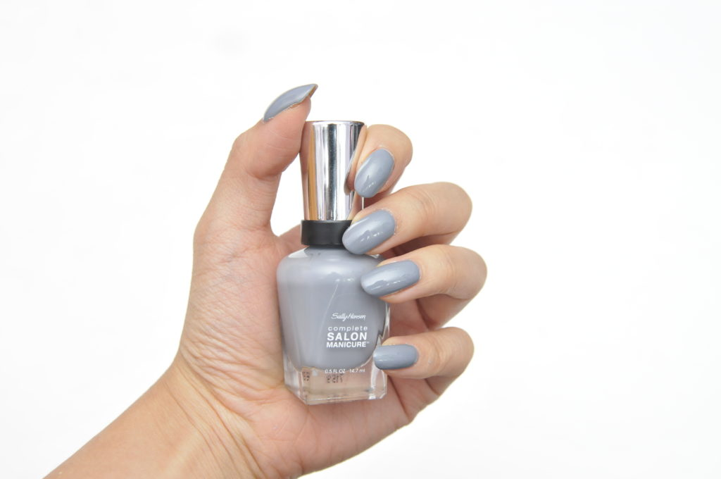 Sally Hansen Complete Salon Manicure Black to Basics Collection Grey Dreaming Swatch