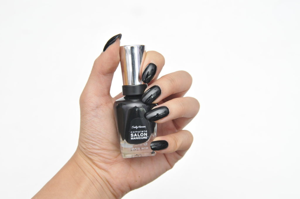 Sally Hansen Complete Salon Manicure Black to Basics Collection Hooked on Onyx Swatch