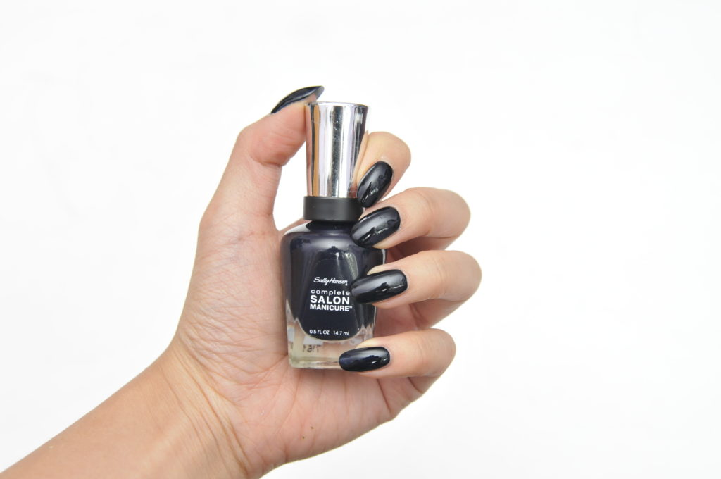Sally Hansen Complete Salon Manicure Black to Basics Collection Midnight Sky Swatch