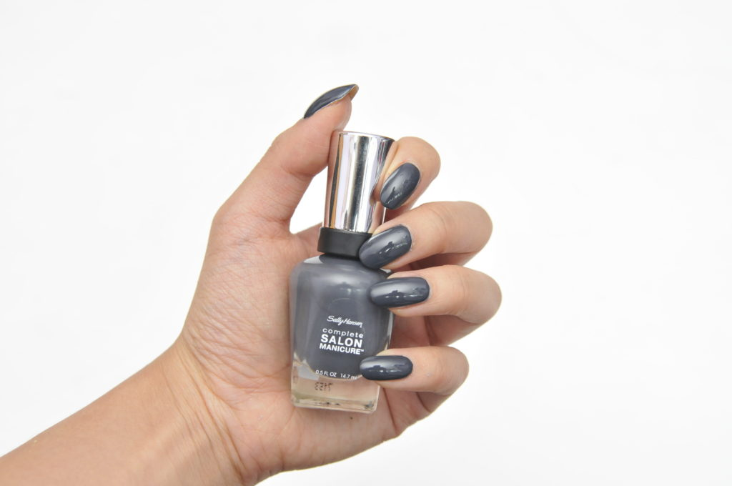 Sally Hansen Complete Salon Manicure Black to Basics Collection Steel My Heart Swatch