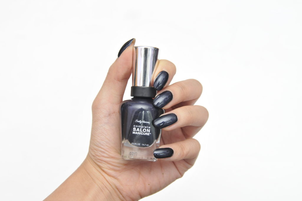 Sally Hansen Complete Salon Manicure Black to Basics Collection To the Moon and Black Swatch