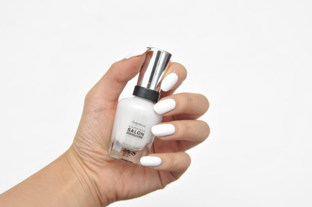 Sally Hansen Complete Salon Manicure Black to Basics Collection White Here White Now Swatch
