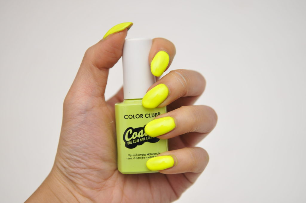 color club coated swatch review canada yellin yellow