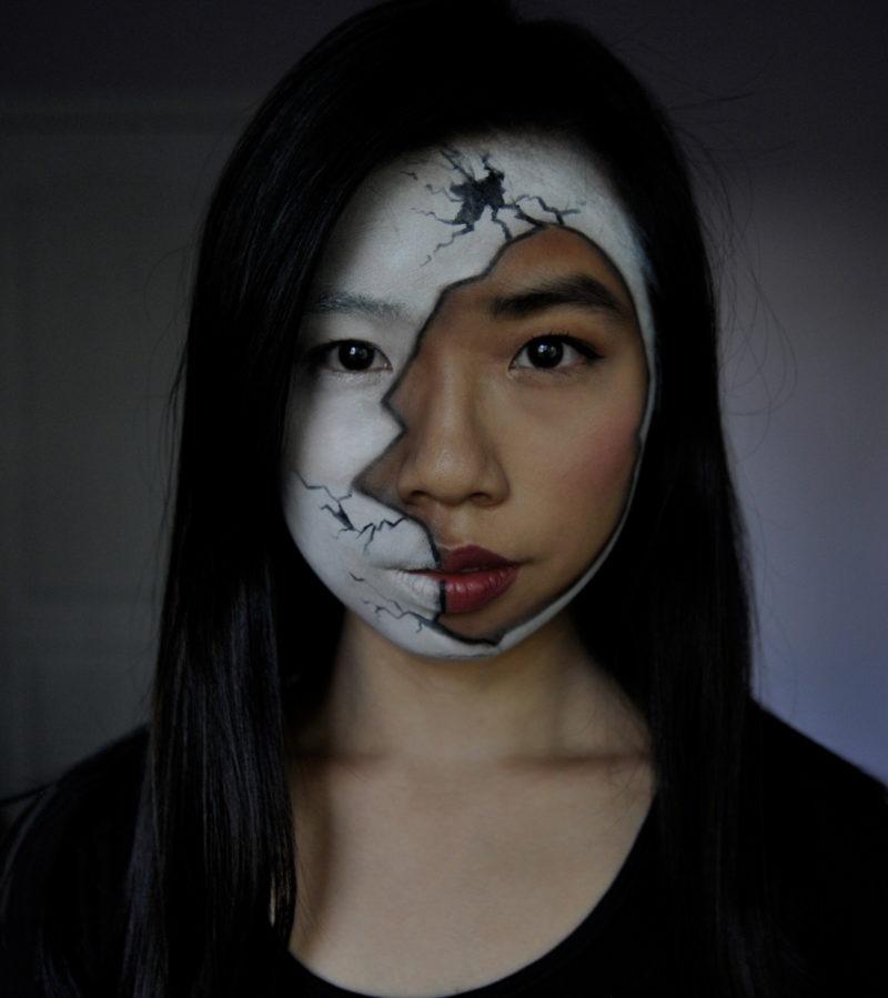 Broken Cracked Doll Easy Halloween Makeup Look Tutorial