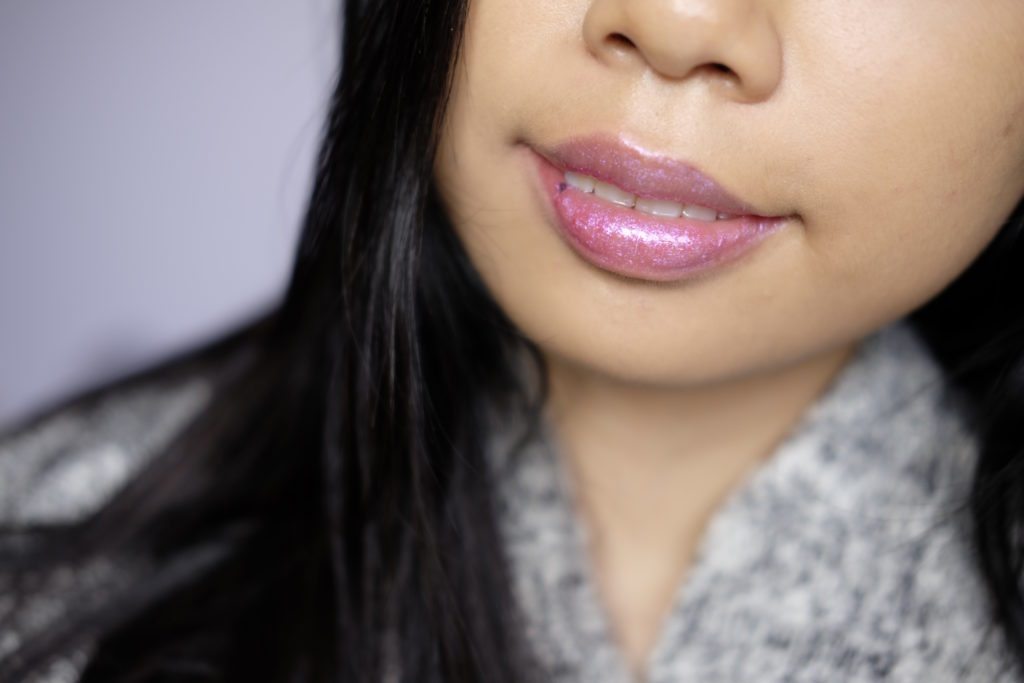 Bite Beauty Prismatic Pearl Creme Lip Gloss in Blush Pearl Swatch Review Canada
