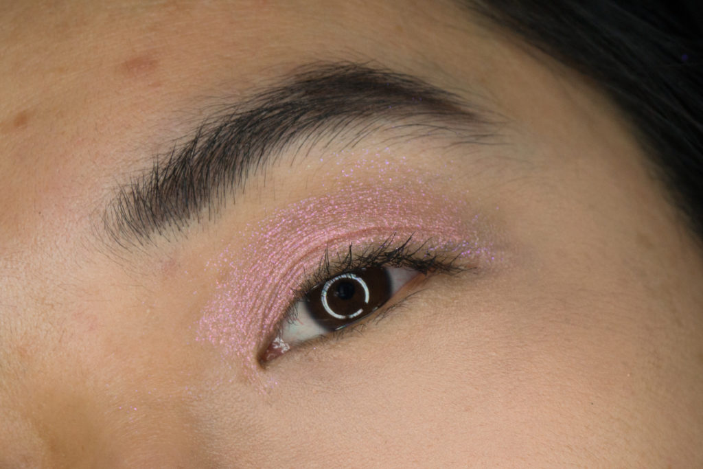 Bite Beauty Prismatic Pearl Multistick Review Pink Pearl eye Swatch