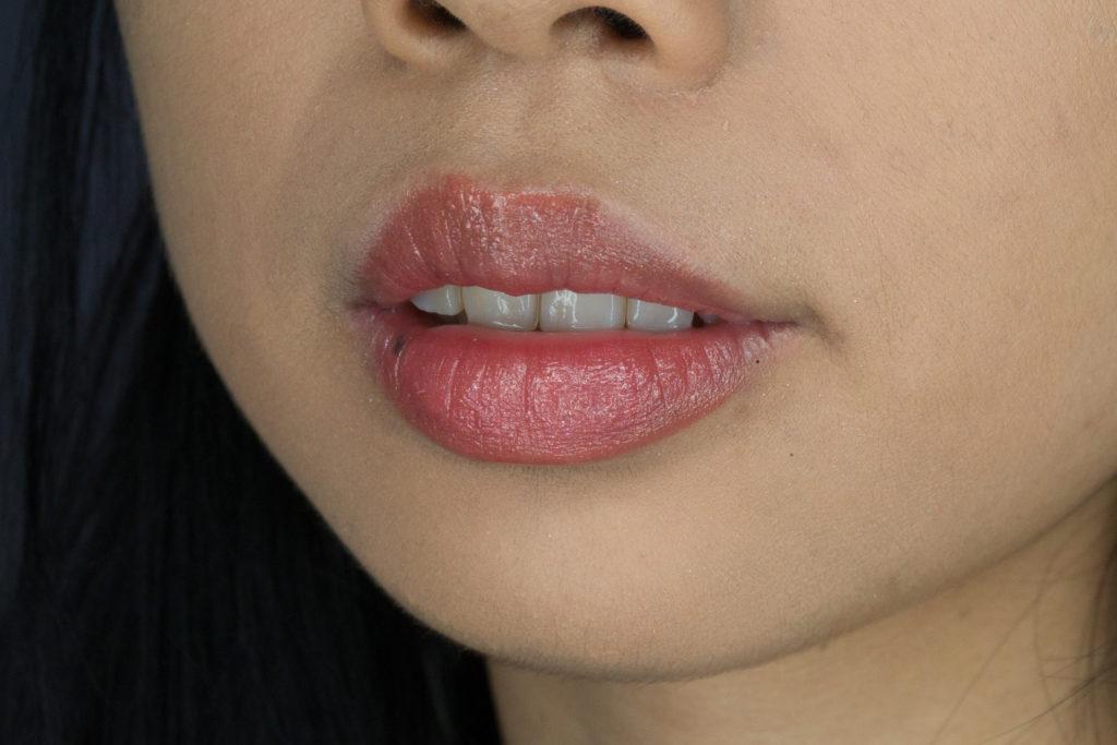 Clove + Hallow Lip Glaze in Mai Tai Swatch Vegan Cruelty Free Non Toxic Makeup Review