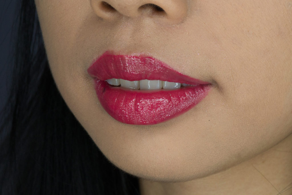 Clove + Hallow Lip Glaze in Spicy Swatch Vegan Cruelty Free Non Toxic Makeup Review